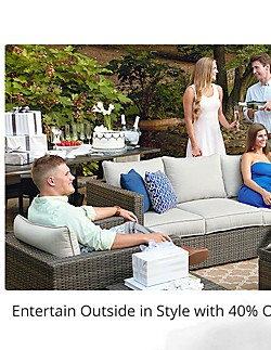 Entertain outside in style with 40% off patio furniture