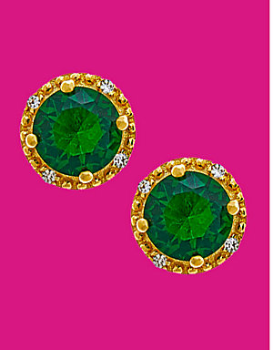 Dazzle with spring bling | Simulated emerald earrings, $9.99 |  reg. $39.99
