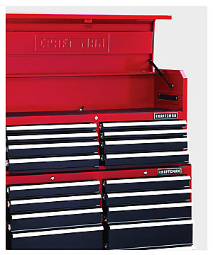 "Craftsman 52"" Wide 18-Drawer Soft Close Tool Chest and Rolling Cabinet Combination - Red/Black $699.98 
