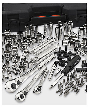 Craftsman 230 pc. silver finish standard & metric mechanic's tool set $99.99 | reg. $199.99