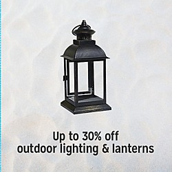 Up to 30% off outdoor lighting & laterns
