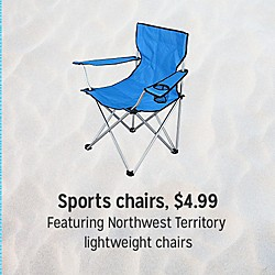 Sports chairs $4.99 | featuring Northwest Territory lightweight chairs