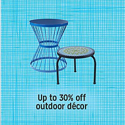 Up to 30% off outdoor decor