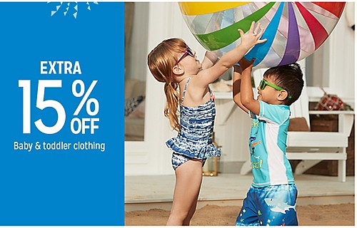 EXTRA 15% OFF Baby & toddler clothing