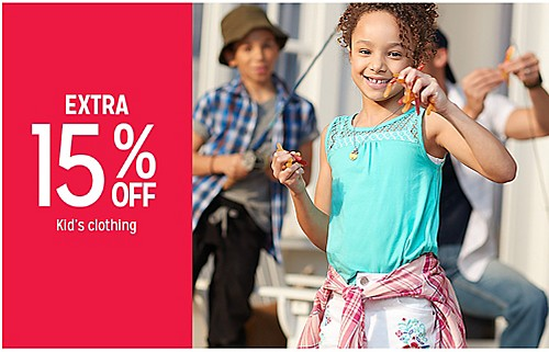 EXTRA 15% OFF Kid's clothing