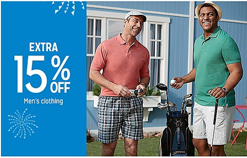 EXTRA 15% OFF Men's clothing
