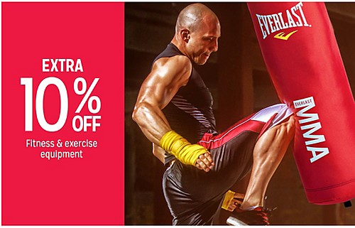 EXTRA 10% OFF Fitness & exercise
