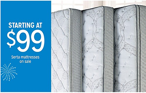 STARTING AT $99 Serta mattresses on sale