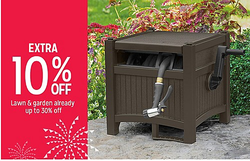 EXTRA 10% OFF Lawn & garden already up to 30% off