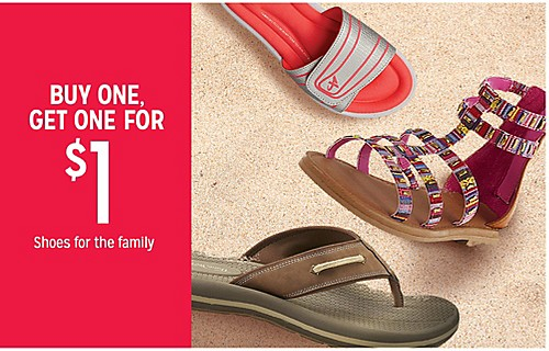 BUY ONE, GET ONE FOR 50% off Shoes for the family