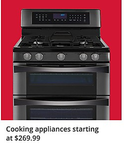Up to 40% off cooking appliances starting at $269.99
