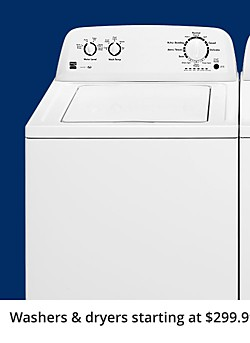 Up to 40% off Washers & Dryers starting at $299.99 each when you buy the pair