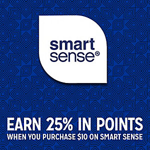 Smart Sense | SHOP SMARTer  | EARN 25% IN POINTS ON YOUR SMART SENSE PURCHASE OF $10