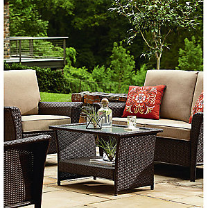Up to 50% off patio furniture Featuring, Parkside 4 Piece Seating for $599.99