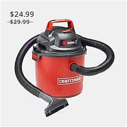 Craftsman - Aspiradora portátil para mojado/seco, de instalación en pared, de 2.5 gal y 2 CF máximos