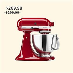 KitchenAid KSM150PSER Artisan® Series - Batidora de 5 cuartos, Empire Red