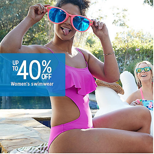 Up to 40% off women's swimwear
