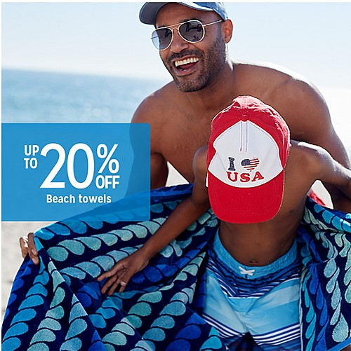 Up to 20% off beach towels