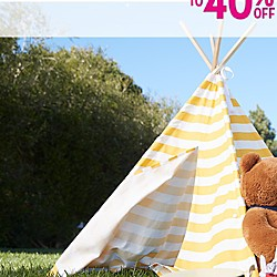 UP TO 40% OFF GIRLS' SUMMER CLOTHING & SWIMWEAR
