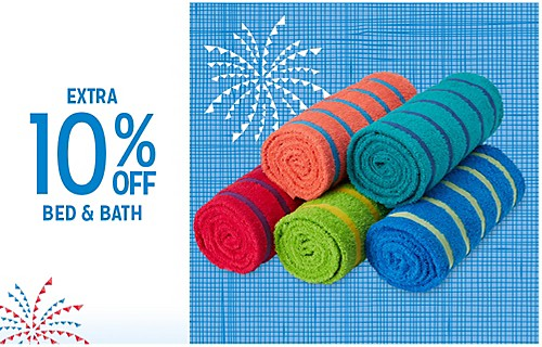 EXTRA 10% OFF BED & BATH