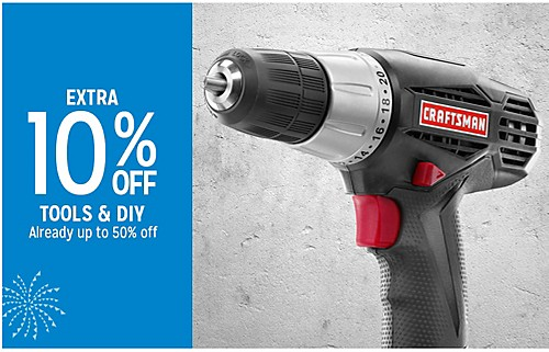 EXTRA 10% OFF TOOLS & DIY Already up to 50% off