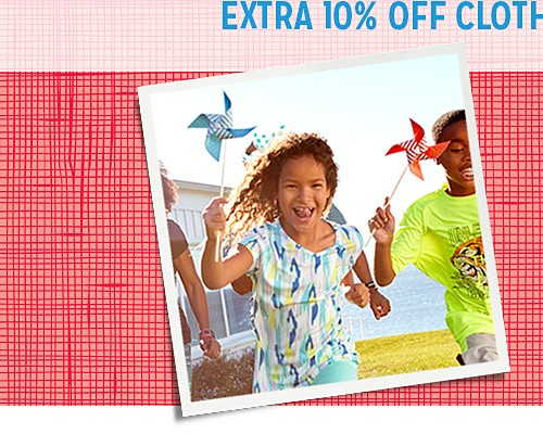 Online only! Extra 10% off your girls' clothing purchase of $49