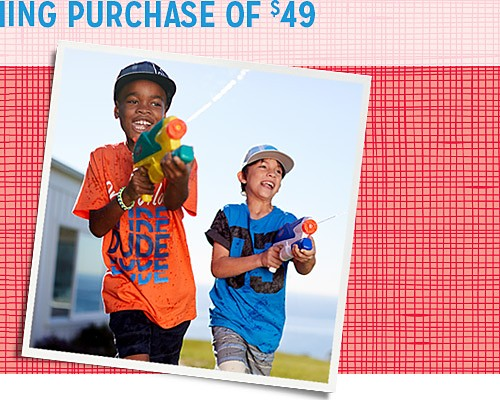 Online only! Extra 10% off boys' clothing purchase of $49