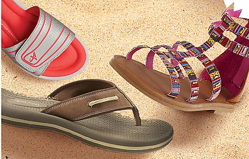 50% off sandals for the family
