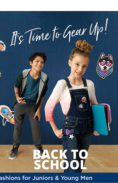 Back to School | Up to 50% off Back-to-School fashions for juniors and young men