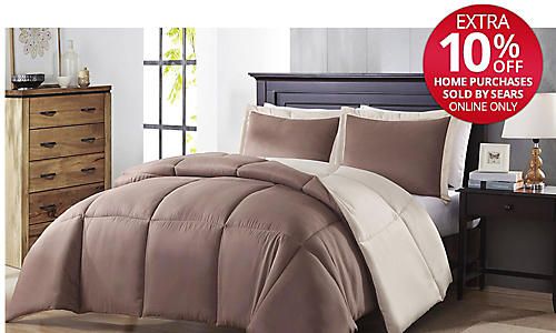 Colormate reversible comforter sets $29.99 twin/twin X-long Plus, check out more great Colormate styles to get dorm room ready