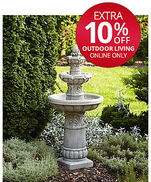 30% off Outdoor Decor Clearance | Extra 10% off outdoor living ONLINE ONLY