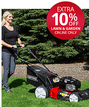 An Extra 10% Off Craftsman Lawn & Garden  (Already Up to 25% Off )
