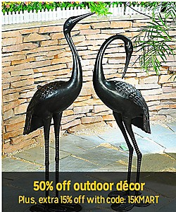 Summer SAVINGS| 50% off outdoor décor Plus get and extra 15% off with code: 15Kmart