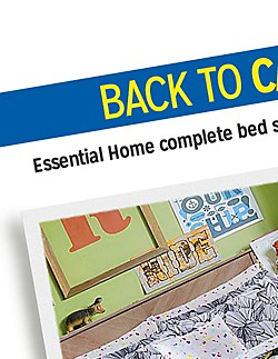 BACK TO CAMPUS | Essential Home complete bed sets $34.99 twin/twin XL | Check out all 4 patterns