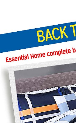 BACK TO CAMPUS | Essential Home complete bed sets, $32.99 twin/twin XL | Extra 15% off home purchase of $50 when you buy online & picku up in store with code: CAMPUS15