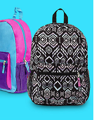 Features backpacks, $5 | 35% off all backpacks