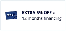 Extra 5% off or 12 months special financing