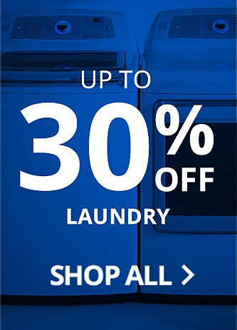 up to 30% off laundry