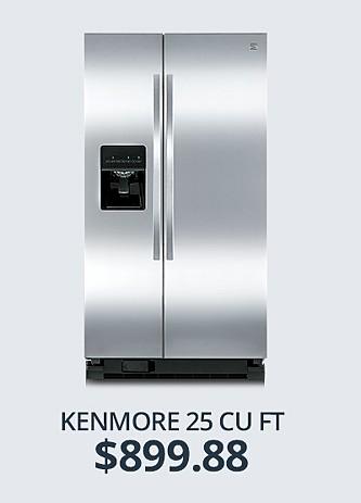 Kenmore 25 cu ft. $899.88