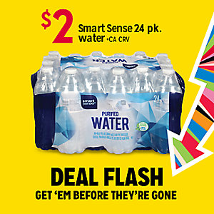 DEAL FLASH | $2 Smart Sense 24 pack water | GET 'EM BEFRORE THEY'RE GONE