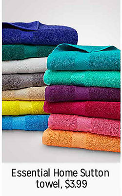 Essential Home Sutton towel, $3.99