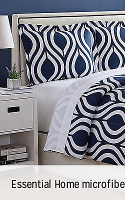 Essential Home microfiber comforter sets, $19.99