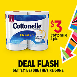 DEAL FLASH | GET 'EM BEFORE THEY'RE GONE | $3 Cottonelle 4pk.