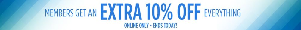 Members get extra 10% off Fitness & Sports