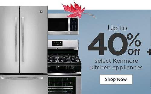 Up to 40% off select Kenmore Kitchen Appliances