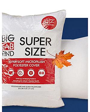 Mega Pillow Sale - Big Fab Find jumbo pillow, sale $4.99