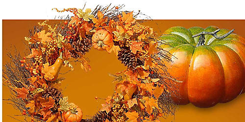 Up to 30% off harvest décor