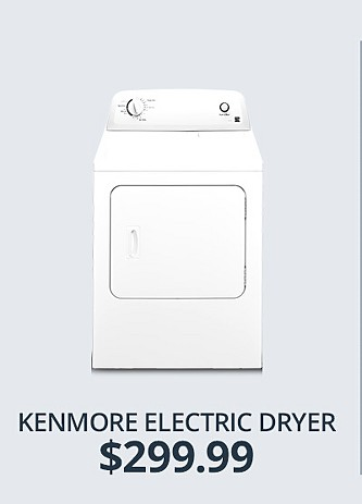 Kenmore Electric Dryer&#x3b; $299.99