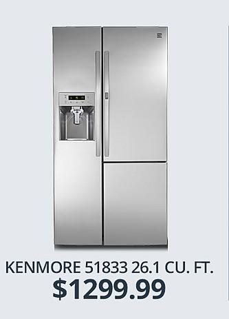Kenmore 26 cu ft. $1299.99