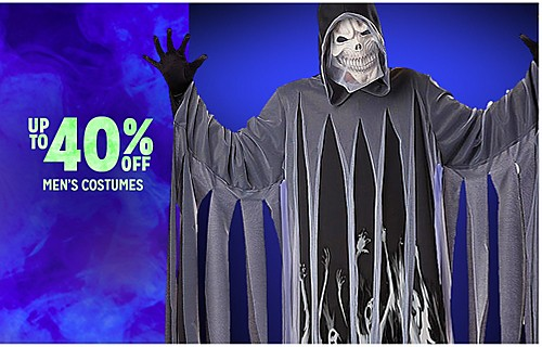 """UP TO 40% OFF MEN""""S COSTUMES"""